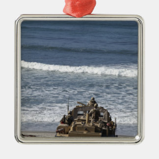 Marines anticipate the arrival Silver-Colored square decoration