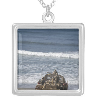 Marines anticipate the arrival silver plated necklace