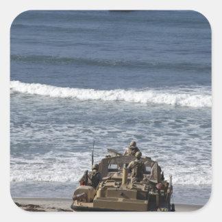 Marines anticipate the arrival square sticker