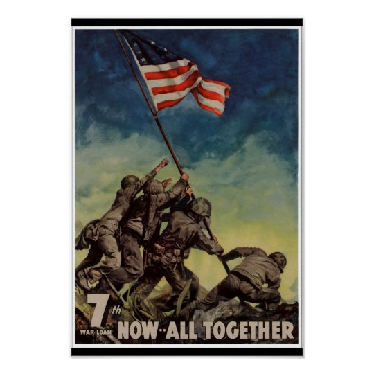 Marines at Iwo Jima Vintage Poster
