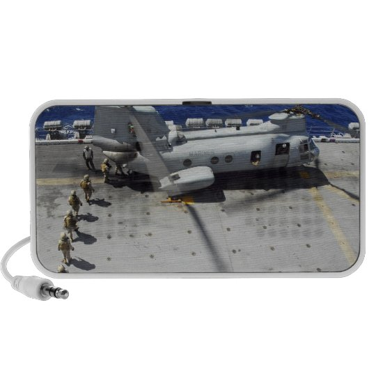 Marines board a CH-46E Sea Knight helicopter iPhone Speaker