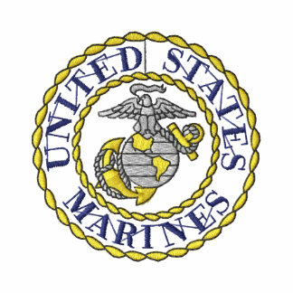 Marines Emblem Embroidered Polo Shirt