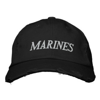 MARINES EMBROIDERED BASEBALL CAPS