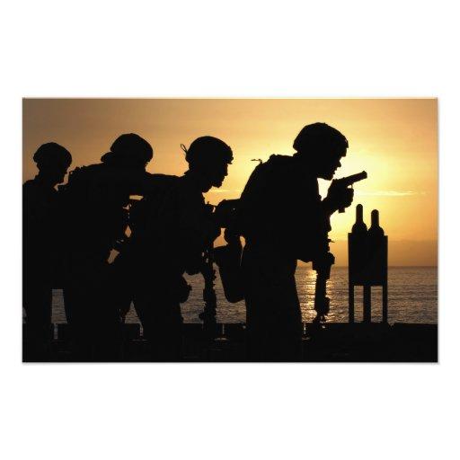 Marines fire 9mm handguns art photo