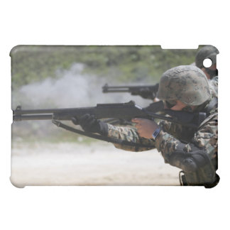Marines firing shotguns iPad mini cases