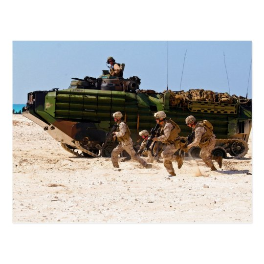 Marines from India Company Bright Star 2009 Postcard