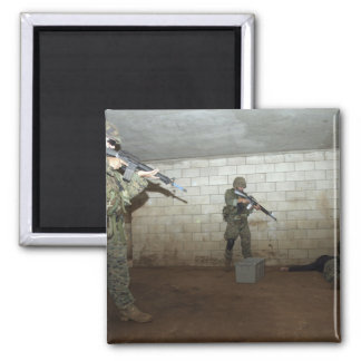 Marines hold an SASO instructor down Square Magnet
