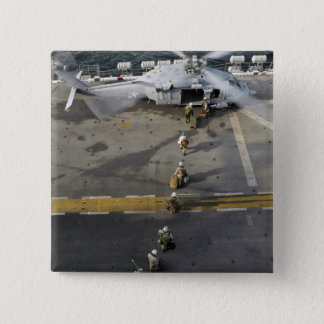 Marines prepare to board an MH-60S 15 Cm Square Badge