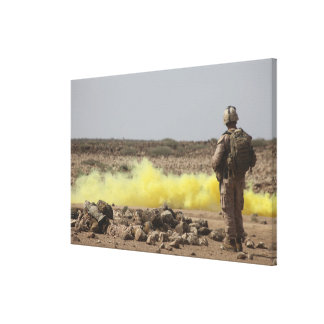 Marines provide security canvas print
