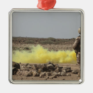 Marines provide security christmas ornament