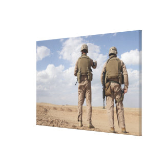 Marines scan the horizon for insurgent activity canvas print