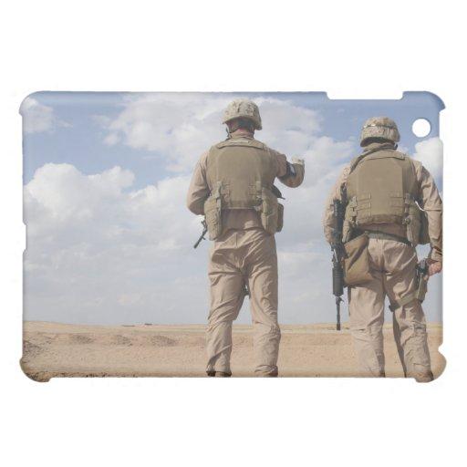 Marines scan the horizon for insurgent activity iPad mini cover
