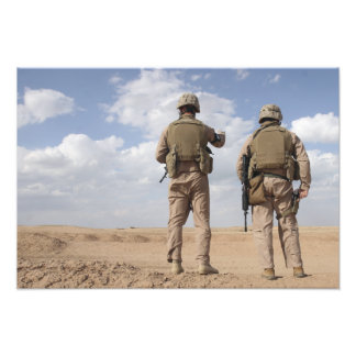 Marines scan the horizon for insurgent activity photo print