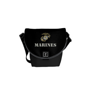 Marines [stencil] commuter bag