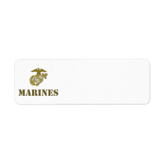 Marines [stencil] return address label