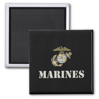 Marines [stencil] square magnet