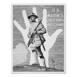 Marines - Uncle Sam's Right Hand Poster
