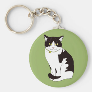 Mario da Cat Basic Round Button Key Ring