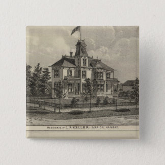 Marion and Valley Farm, Kansas 15 Cm Square Badge
