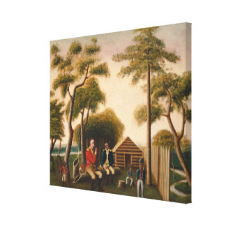 Marion Feasting the British Officer Stretched Canvas Prints