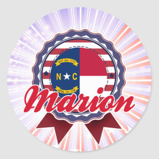 Marion NC Round Stickers