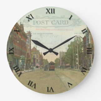 Marion Ohio Post Card Clock - Center St 1908