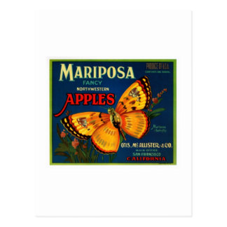 Mariposa apples postcards