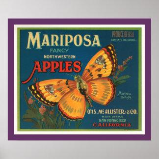 Mariposa Apples Posters