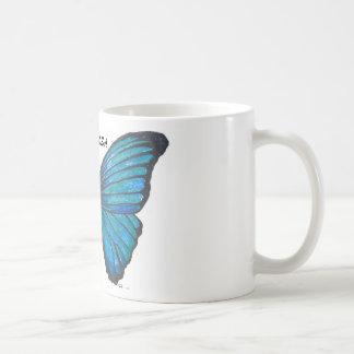 Mariposa, Blue Butterfly Coffee Cup Basic White Mug