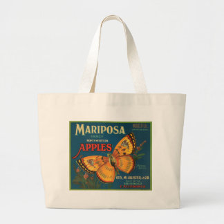 Mariposa Butterfly Apples Fruit Crate Label Tote Bags