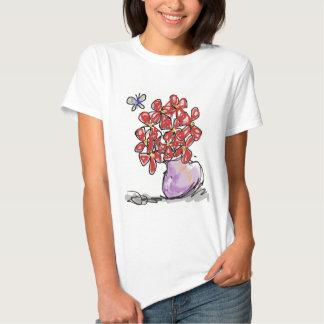 Mariposa con Flores Shirts