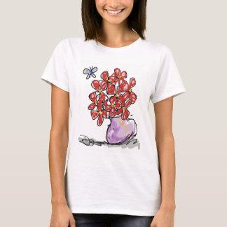 Mariposa con Flores T-Shirt