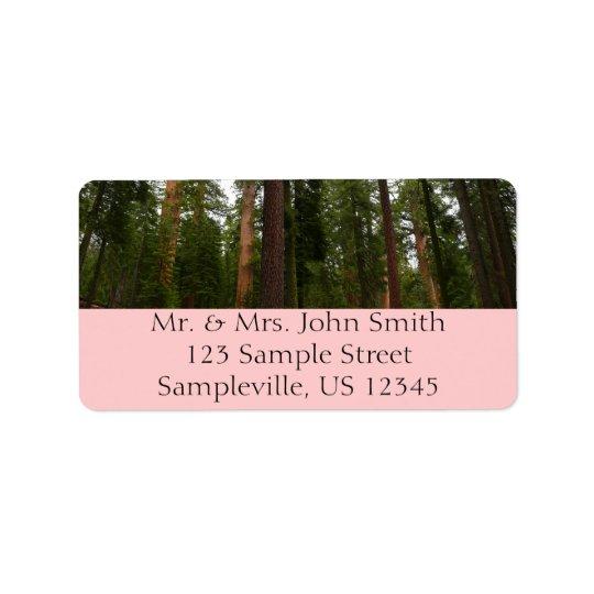 Mariposa Grove in Yosemite National Park Address Label