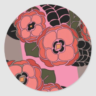 Mariposa in Rose & Brown - Round Stickers