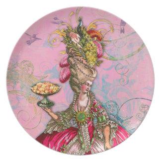 Maris Antoinette & Peacock in Pink Plate