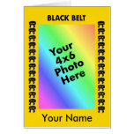 Marital Arts Black Belt Photo Mat Card