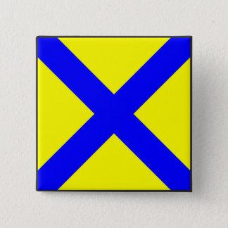 maritime alphabet signal flag number five 5 letter 15 cm square badge
