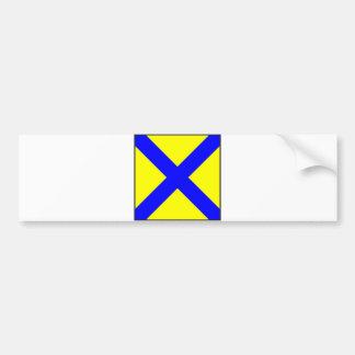 maritime alphabet signal flag number five 5 letter bumper sticker