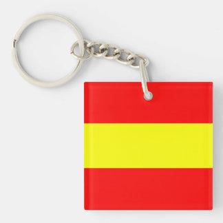 maritime alphabet signal flag number one 1 letter Single-Sided square acrylic key ring