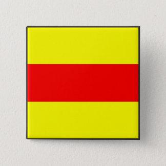 maritime alphabet signal flag number two 2 letter 15 cm square badge