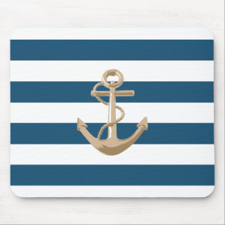 Maritime and Nautical with Anchor - Mousepad