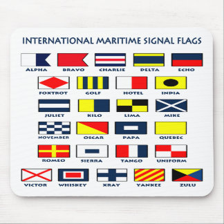 Maritime Flag Signals Mousepad