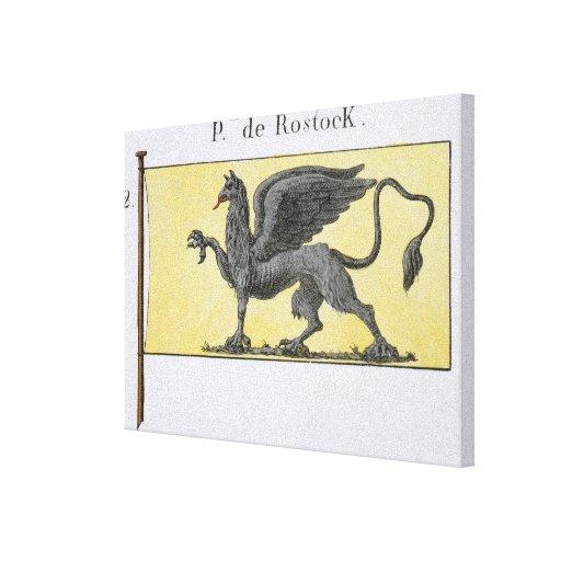 Maritime Flag with Griffin Emblem denoting de Rost Canvas Prints