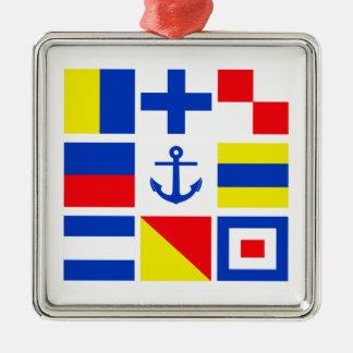 Maritime flags ornament