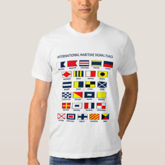 Maritime flags tees