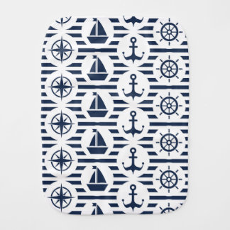 Maritime In Blue Pattern Burp Cloth