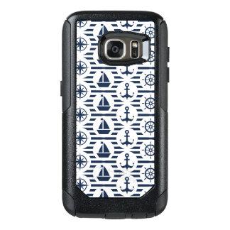Maritime In Blue Pattern OtterBox Samsung Galaxy S7 Case