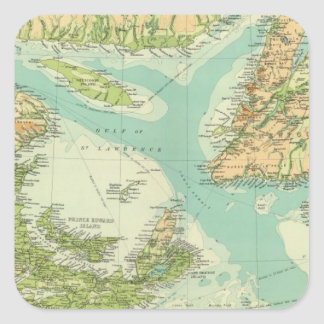 Maritime Provinces & Newfoundland Square Sticker