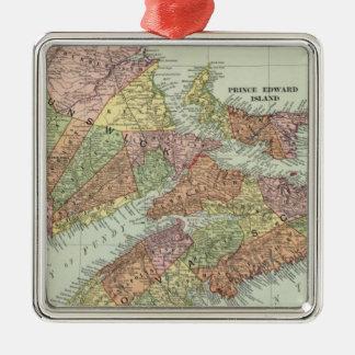 Maritime Provinces of Canada Silver-Colored Square Decoration