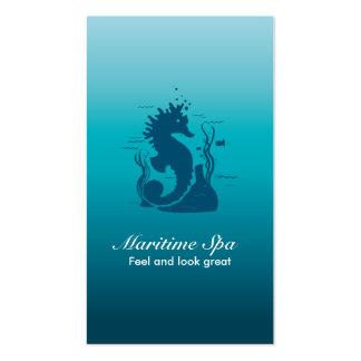 MARITIME SPA SEAHORSE ALGA AND CORALS BLUE BUSINESS CARDS